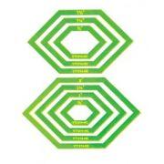 Matildas Own Lozenge (Elongated Hexagon) Donut Patchwork Template Set by Matilda's Own Geometric Shapes - OzQuilts