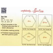 Sew Easy Hexagon Patchwork Template Set by Sew Easy Geometric Shapes - OzQuilts