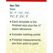 Sew Easy Triangles Patchwork Template Set by Sew Easy Geometric Shapes - OzQuilts