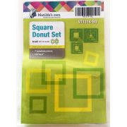 Matildas Own Square Donut Patchwork Template Set by Matilda's Own Geometric Shapes - OzQuilts