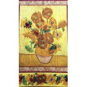 Sunflower Vincent Van Gogh Fabric Panel by Robert Kaufman Fabrics - Panels