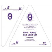 """Marti Michell Template Set R - 5"""" Peaky and Spike by Marti Michell - Quilt Blocks"""