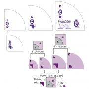 "Marti Michell Drunkard's Path Template Set -Small 3' & 4"" by Marti Michell - Quilt Blocks"