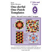 "Marti Michell Kite & Crown Patchwork Template Set - 3"" Finished Hexagons by Marti Michell Quilt Blocks - OzQuilts"