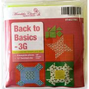 """Back to Basics 3 Grid 12"""" Template Set by Matilda's Own - Quilt Blocks"""