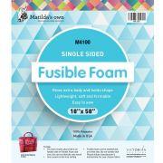 "Matilda's Own Single Sided Fusible Foam, 18"" x 58"" by Matilda's Own - Pre-Cut Batts"