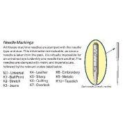 Klasse Ball Point Machine Needles Size 100/16 by Klasse - Machines Needles