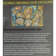 Emu Bush Purple Australian Aboriginal Art Fabric by Barbara Egan by M & S Textiles - Cut from the Bolt