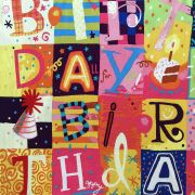 Birthday Celebrations Multi Patches Fabric by Free Spirit Fabrics - Quilting Cotton Fabrics