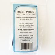 Heat Press Batting Together , Black, 3/4 inches X 10 yards by HPBT Inc Batting Spray, Tape & Accessories - OzQuilts