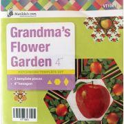 "Grandmas Flower Garden 4"" Template Set by Matilda's Own - Quilt Blocks"