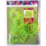 Matilda's Own Mini Hexagons, DIamonds & Triangles Patchwork Template Set by Matilda's Own - Quilt Blocks