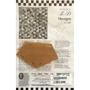 3-D Hexagon One Patch Pattern & Template by Come Quilt with Me Quilt Blocks - OzQuilts