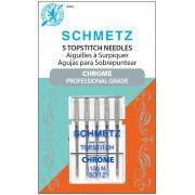 Schmetz Chrome Topstitch Needle Size 80/12 by Schmetz Chrome - Sewing Machines Needles