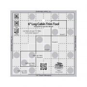 Creative Grids 6 inch Log Cabin Trim Tool by Creative Grids Log Cabin & Pineapple Rulers - OzQuilts