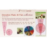 Clover Trace 'n Create Dresden Plate & Fan Quilt Templates by Clover - Wedge Rulers