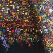 Jewel Multi Dots & Circles Fabric by Robert Kaufman Fabrics - Quilting Cotton Fabrics