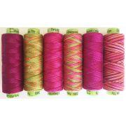 Sue Spargo Eleganza Pack- Punchy Pink Thread by Sue Spargo - Sue Spargo Eleganza Perle 8