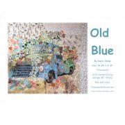 Old Blue Vintage Truck Collage Pattern by Fiberworks Collage  - OzQuilts