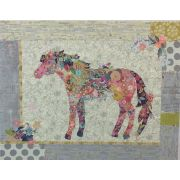 Confetti Horse Collage Pattern by Fiberworks Collage  - OzQuilts