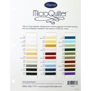 Microquilter Poly, 100wt 3000yd Cone, Natural White by MicroQuilter Thread - MicroQuilter Thread