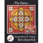 Fire Dance Pattern & Foundation Papers by Jacqueline de Jongue by BeColourful Quilts by Jacqueline de Jongue - Patterns & Foundation Papers