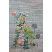 Emerson Puppy Collage Pattern by Fiberworks Collage  - OzQuilts