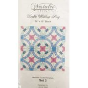 Westalee Double Wedding Ring Template, Set 3 The Petal Centre by Westalee Quilt Blocks - OzQuilts
