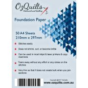Foundation Paper Piecing Paper A4 (50) by OzQuilts - Foundation Papers