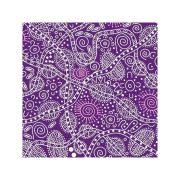 """Aboriginal Art Fabric 10 pieces 10"""" Squares Layer Cake Pack - Purple Colourway by M & S Textiles 10"""" Squares - OzQuilts"""
