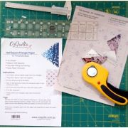 "Half Square Triangle Paper, 3/4"" Finished Size by OzQuilts Pre-printed Triangle Papers - OzQuilts"