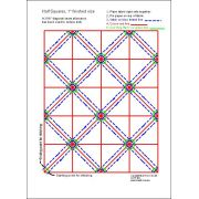 "Half Square Triangle Paper, 1"" Finished Size by OzQuilts Pre-printed Triangle Papers - OzQuilts"