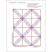 """Half Square Triangle Paper 1¼"""" Finished Size by OzQuilts - Pre-printed Triangle Papers"""
