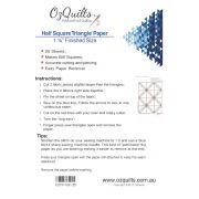 "Half Square Triangle Paper, 1 1/4"" Finished Size by OzQuilts - Pre-printed Triangle Papers"