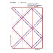 """Half Square Triangle Paper 1 ½"""" Finished Size by OzQuilts - Pre-printed Triangle Papers"""