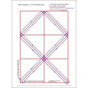 """Half Square Triangle Paper 2½"""" Finished Size by OzQuilts - Pre-printed Triangle Papers"""