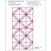 """Half Square Triangle Paper ¾"""" Finished Size for 5"""" charms by OzQuilts - Pre-printed Triangle Papers"""