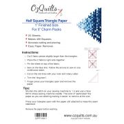 "Half Square Triangle Paper, 1"" Finished Size for 5"" charms by OzQuilts - Pre-printed Triangle Papers"