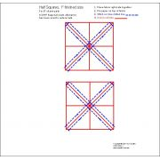 """Half Square Triangle Paper 1"""" Finished Size for 5"""" charms by OzQuilts - Pre-printed Triangle Papers"""