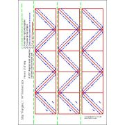 """Half Square Triangle Paper 1¼"""" Finished Size for 2 1/2"""" for strips by OzQuilts - Pre-printed Triangle Papers"""