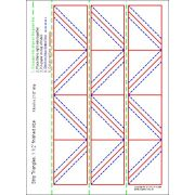 """Half Square Triangle Paper 1½"""" Finished Size for 2 1/2"""" for strips by OzQuilts - Pre-printed Triangle Papers"""