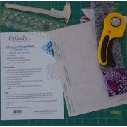 """Half Square Triangle Paper 1"""" Finished Size for 2 1/2"""" for strips by OzQuilts - Pre-printed Triangle Papers"""