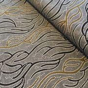 Aboriginal Art Fabric 5 Fat Quarter Bundle - Black White Gold Colourway by M & S Textiles Fat Quarter Packs - OzQuilts