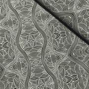 Aboriginal Art Fabric 5 Fat Quarter Bundle - Black Colourway by M & S Textiles - Fat Quarter Packs