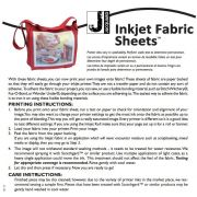 "Jacquard Printable Inkjet Fabric Sheets, Size 8.5"" x 11"", 10 sheets per pack by Jacquard Inkjet Fabric Sheets - OzQuilts"