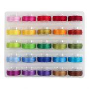 Super Bobs MasterPiece Cotton Prewound Bobbin Set - 25 Bright Colours by Superior Masterpiece Thread Masterpiece Cotton Thread - OzQuilts
