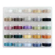 Super Bobs MasterPiece Cotton Prewound Bobbin Set - 25 Soft Colours by Superior Masterpiece Thread - Masterpiece Cotton Thread