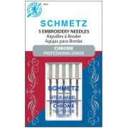 Schmetz Chrome Embroidery Needle Size 90/14 by Schmetz Chrome - Sewing Machines Needles