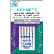 Schmetz Chrome Microtex Needle Size 70/10 by Schmetz Chrome - Sewing Machines Needles