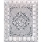 """Pre-Printed Wholecloth Quilt Top Garden Bouquet White 88"""" x 106"""" by Benartex - Kits - Wholecloth Premarked Fabric"""